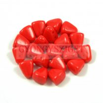Nib-Bit - Czech Pressed 2 Hole Bead - 6x5mm - Opaque Red