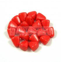 Nib-Bit - Czech Pressed 2 Hole Bead - 6x5mm - Opaque Red