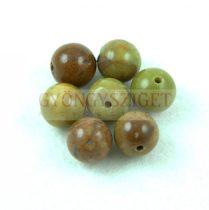 Ausztál Oliva Opalit gyöngy golyó - Olive - 10mm