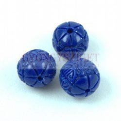 Gyanta golyó gyöngy - Oriental - Sapphire - 10mm