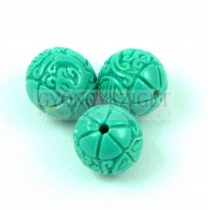 Resin round bead - Oriental -Turquoise  Green - 10mm