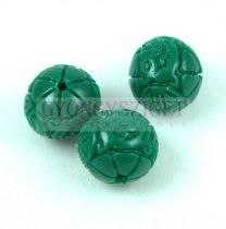 Gyanta golyó gyöngy - Oriental - Zöld - 10mm