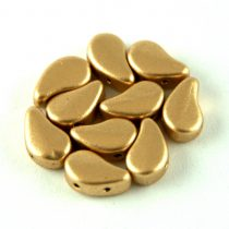 Paisley Duo - cseh préselt kétlyukú gyöngy - Aztec Gold - 8x5mm