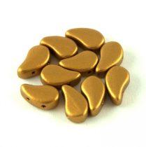 Paisley Duo - cseh préselt kétlyukú gyöngy - Brass Gold - 8x5mm