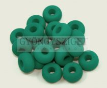 Pandora gyöngy - matte silk satin emerald - 11mm