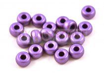 Pandora - Czech Big Hole Glass Bead - polichrome metallic purple - 11mm