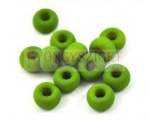 Pandora - Czech Big Hole Glass Bead - matte silk satin green pea- 11mm