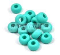 Pandora gyöngy - matte silk satin turquoise - 11mm
