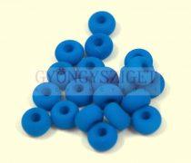 Pandora - Czech Big Hole Glass Bead - silk satin matte capri blue - 9mm