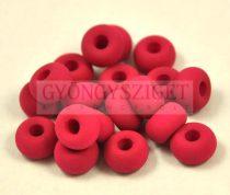 Pandora - Czech Big Hole Glass Bead - silk satin matte sour cherry - 9mm