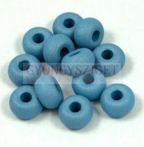 Pandora - Czech Big Hole Glass Bead - silk satin blue - 9mm