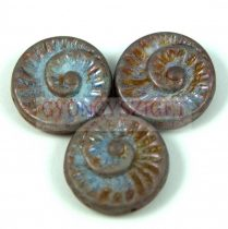 Cseh préselt egyedi formák - alabástrom kék márvány - fosszília - 16mm