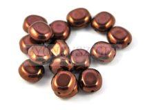 Cseh préselt egyedi formák - sötét bronz - 10x9mm