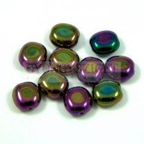 Cseh préselt egyedi formák - metallic plum - 10x9mm