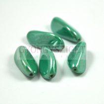 Cseh préselt egyedi formák - green turquoise luster - 24x13mm