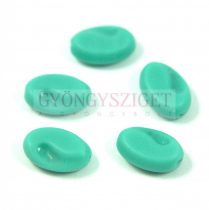 Cseh préselt egyedi formák - green turquoise matte - 10x15mm