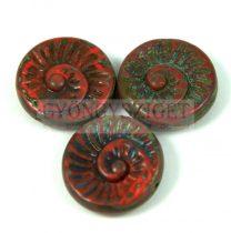 Cseh préselt egyedi formák - piros picasso - fosszília - 16mm