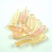 Cseh préselt egyedi formák - Feather - Crystal Champagne AB - 5x17mm