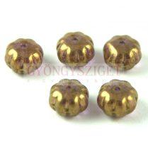Cseh préselt egyedi formák - Melon - Crystal Purple Bronze Luster - 8x11mm