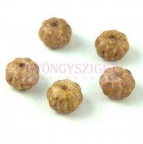 Cseh préselt egyedi formák - Melon - Alabaster Purple Bronze Luster - 8x11mm
