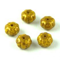 Cseh préselt egyedi formák - Melon - Yellow Bronze Travertin - 8x11mm