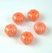 Cseh préselt egyedi formák - Melon - Orange Luster - 8x11mm