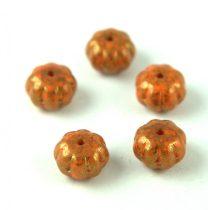 Cseh préselt egyedi formák - Melon - Orange Bronze Travertin - 8x11mm