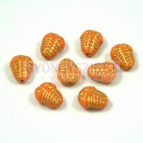 Cseh préselt egyedi formák - trilobita - narancs - 10mm