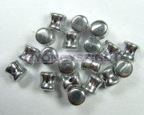 Cseh Pellet gyöngy - ezüst -4x6mm