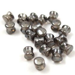 Cseh Pellet gyöngy - kristály króm -4x6mm