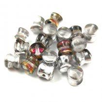 Cseh Pellet gyöngy - Crystal Vitrail Green - 4x6mm