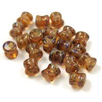 Cseh Pellet gyöngy - kristály travertin -4x6mm