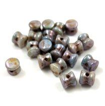 Cseh Pellet gyöngy - Kék lüszteres alabástrom -4x6mm