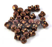 Cseh Pellet gyöngy - jet chocolate -4x6mm