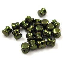 Cseh Pellet gyöngy - metál zöld -4x6mm