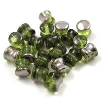 Cseh Pellet gyöngy - olivine chrome -4x6mm