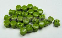 Cseh Pellet gyöngy - telt oliva -4x6mm