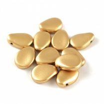 Petal - Czech Glass Bead - 11x16mm - Aztec Gold