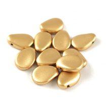 Petal - Czech Glass Bead - 8x11mm - Aztec Gold