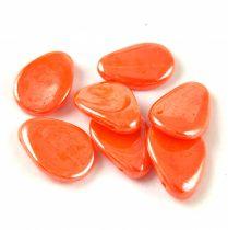 Préselt virágszirom gyöngy - 11x16mm - Orange Luster