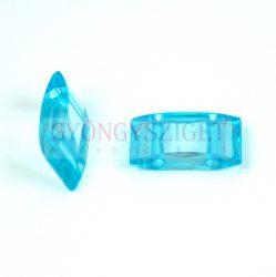 Peyote alap - kétlyukú műanyag gyöngy - Aquamarine - 19x8mm