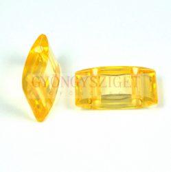 Peyote alap - kétlyukú műanyag gyöngy - Light Topaz - 19x8mm