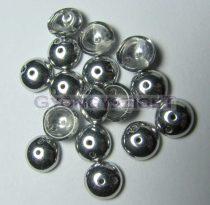 Cseh préselt Piggy gyöngy - 4x8mm - kristály ezüst
