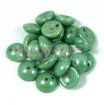 Cseh préselt Piggy gyöngy - 4x8mm - alabástrom zöld márvány