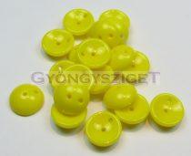 Cseh préselt Piggy gyöngy - 4x8mm - sárga