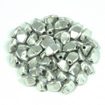 Cseh préselt Pinch gyöngy - aluminium - 5x3mm