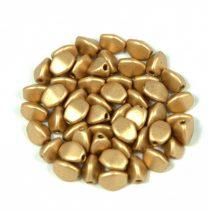 Cseh préselt Pinch gyöngy - aztec gold - 5x3mm