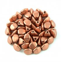 Cseh préselt Pinch gyöngy - Matte Metallic Copper - 5x3mm