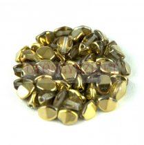 Cseh préselt Pinch gyöngy - crystal amber - 5x3mm