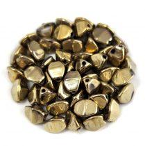 Cseh préselt Pinch gyöngy - Crystal Full Amber - 5x3mm